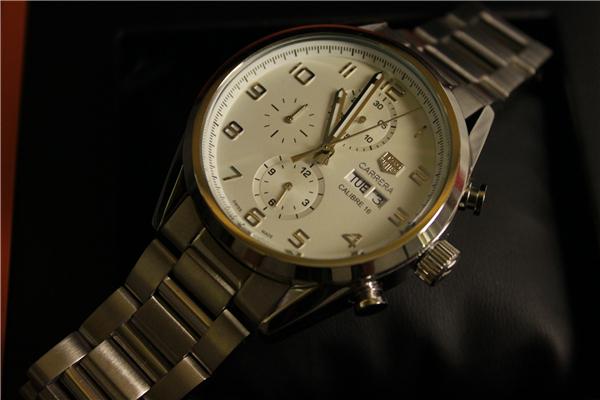 時計 腕時計 カレラ 自動巻き ホワイト_画像4