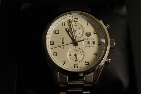 時計 腕時計 カレラ 自動巻き ホワイト_画像3