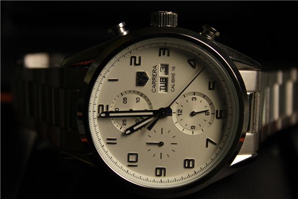 時計 腕時計 カレラ 自動巻き ホワイト_画像7