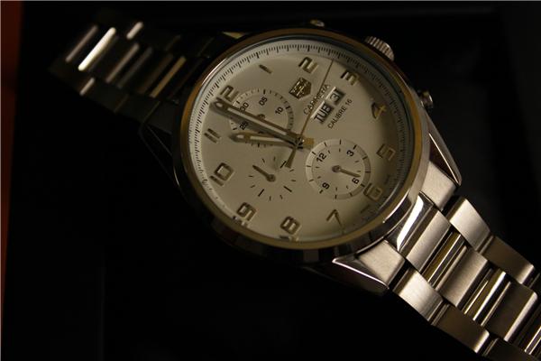 時計 腕時計 カレラ 自動巻き ホワイト_画像6