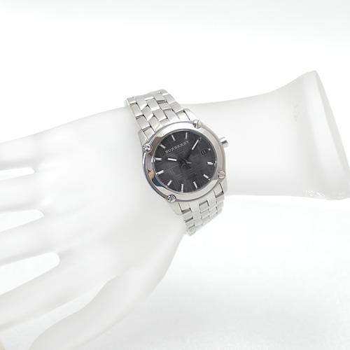 バーバリー/BU1851 ニュー ヘリテージ レディース腕時計/腕周り14cm/小さめ/グレー文字盤/電池交換&ライトポリッシュ済み(4530)_画像3