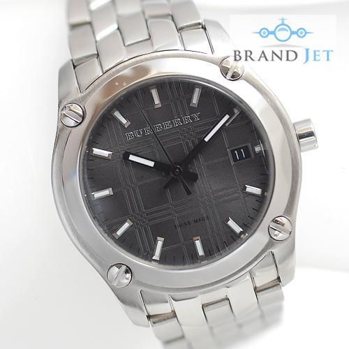バーバリー/BU1851 ニュー ヘリテージ レディース腕時計/腕周り14cm/小さめ/グレー文字盤/電池交換&ライトポリッシュ済み(4530)_画像1
