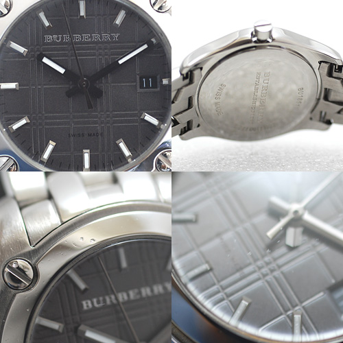 バーバリー/BU1851 ニュー ヘリテージ レディース腕時計/腕周り14cm/小さめ/グレー文字盤/電池交換&ライトポリッシュ済み(4530)_画像5