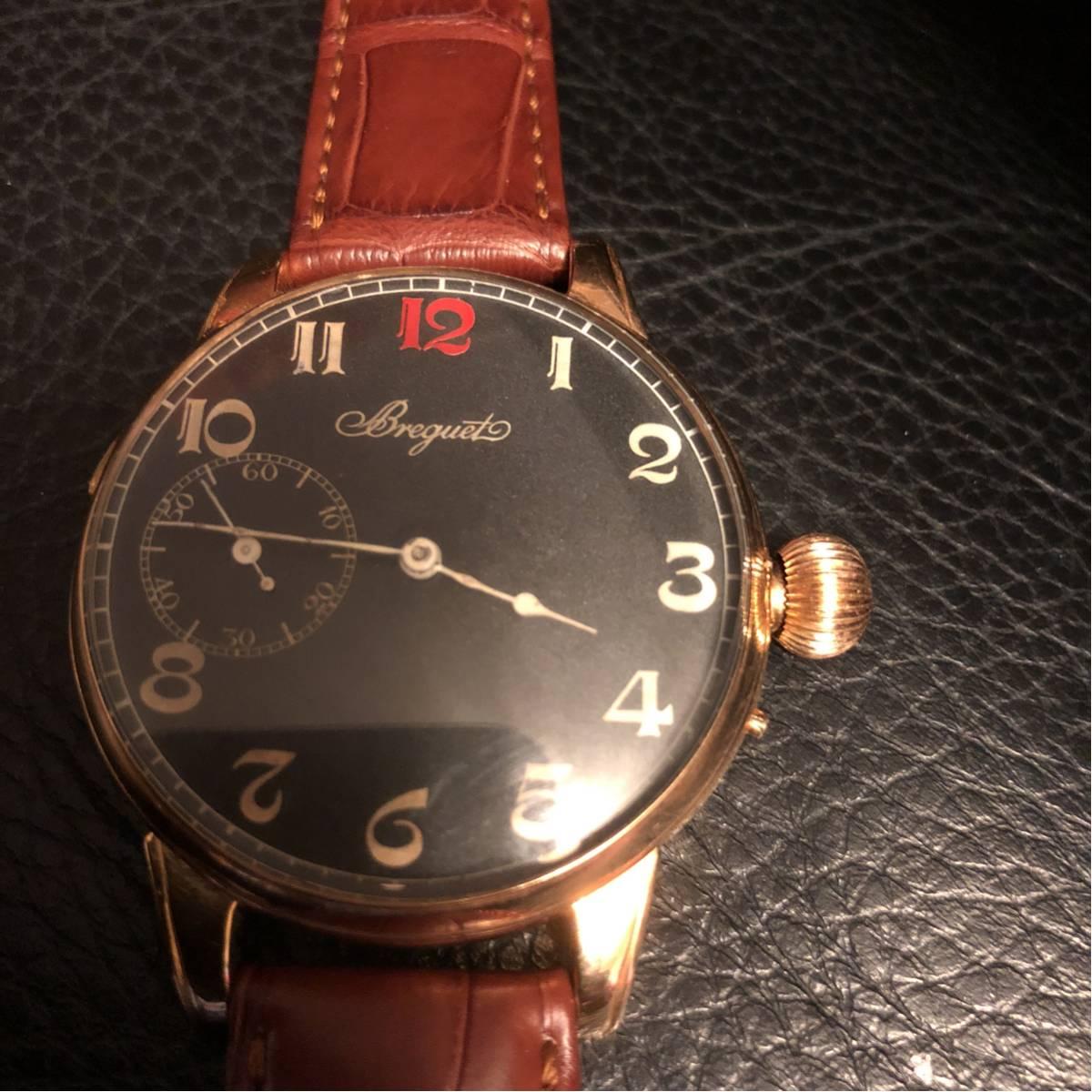 ブレゲアンティークフルオリジナル、1930年代、ブレゲにて、コンプリートオーバホール済み。18金GOLD