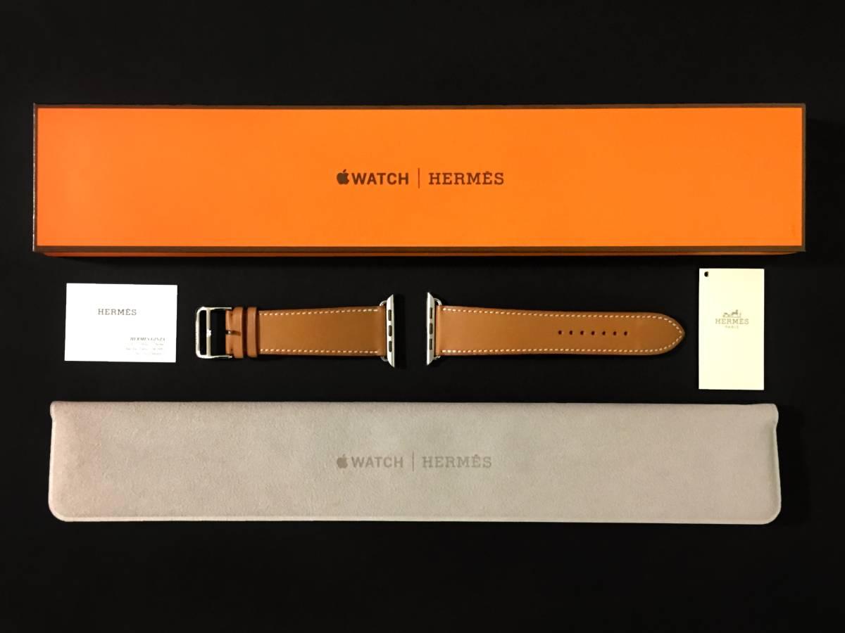 【未使用新品】アップルウォッチ × エルメス 42mm レザーストラップ * Apple Watch HERMES 銀座店購入 正規品 iPhoneユーザー推奨