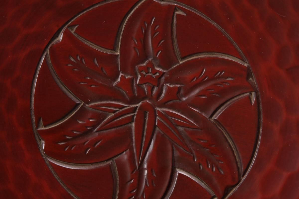 鎌倉彫 7寸盆 伝協組 伝統鎌倉彫事業協同組合 直径21.5cm 高さ2㎝ 140g 中古 KA-6699_画像4