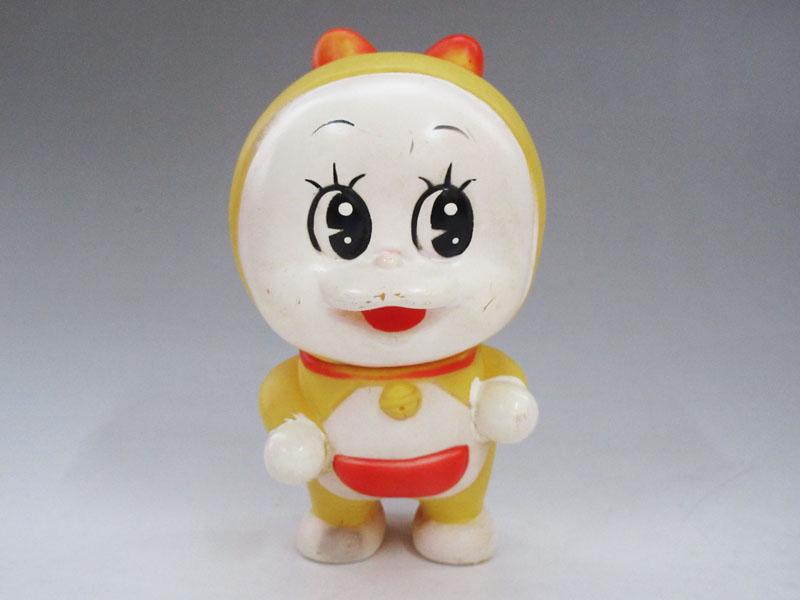 ☆J160 【ドラミちゃん】 ソフビ人形 タカトク 小学館 高さ(約)11.5cm 希少 当時物