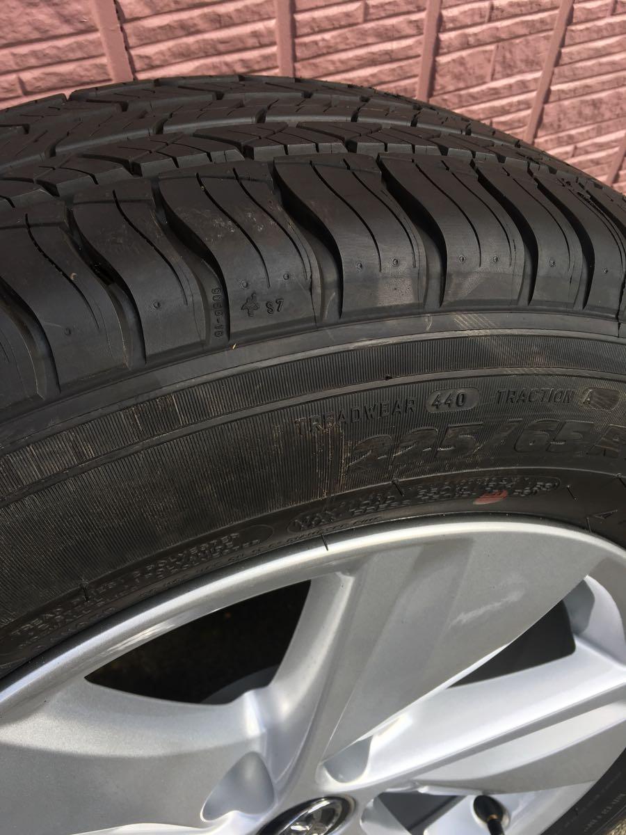 ハリアーエレガンス純正タイヤ ホイール4本セット_画像3