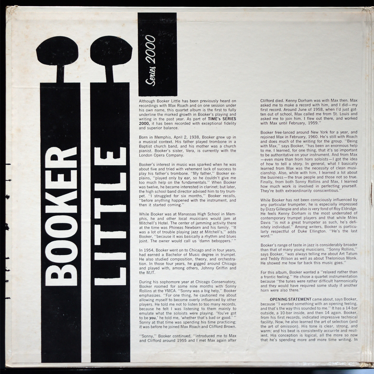EXジャケット & NM盤 Booker Little Time盤 STEREO_画像4