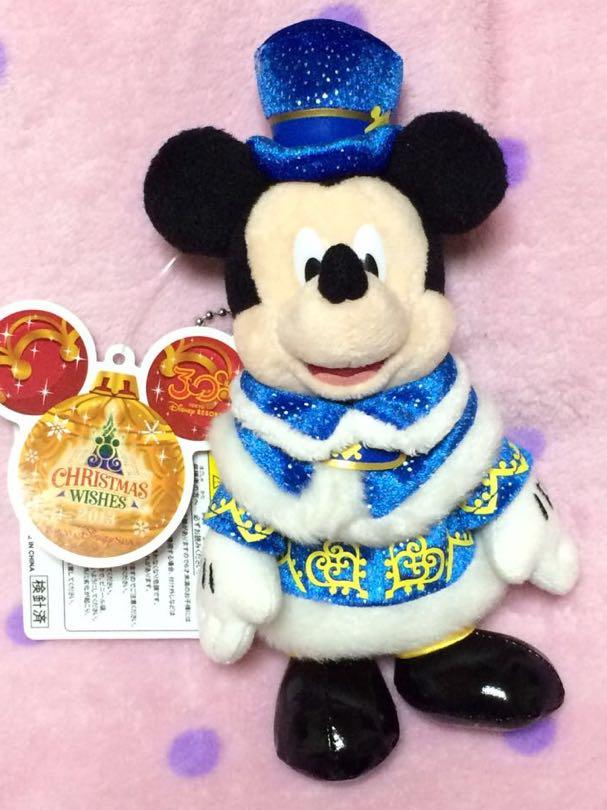 ディズニーシー クリスマス 2013 ★ ミッキー ぬいぐるみバッジ ディズニーグッズの画像