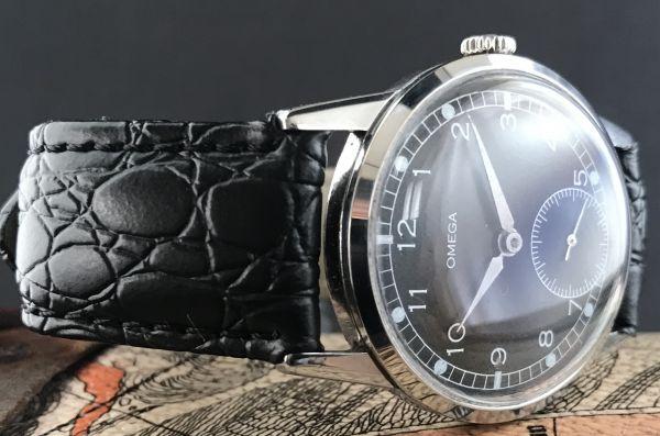 極上品【オメガ☆ミリタリー】アンティーク ヴィンテージ Cal.268 手巻き メンズ腕時計_画像3