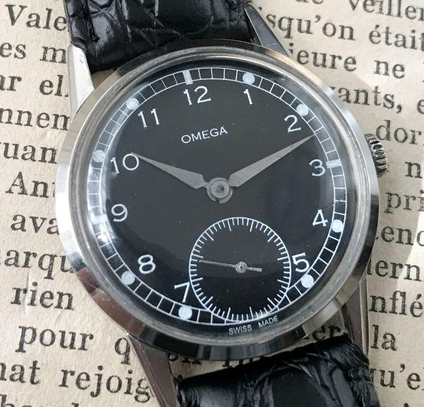 極上品【オメガ☆ミリタリー】アンティーク ヴィンテージ Cal.268 手巻き メンズ腕時計_画像2