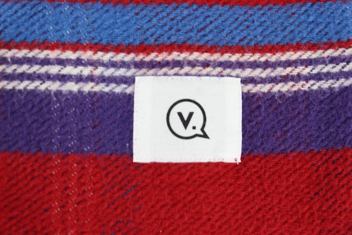 極美 VANQUISH チェック柄 長袖 ネルシャツ S レッド/ブルー 赤/青 バンキッシュ ヴァンキッシュ インディアン ワーク//fragment_画像5