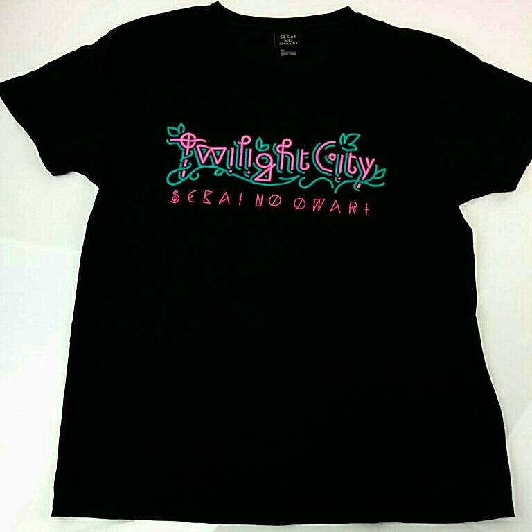 SEKAI NO OWARI 2015 ライブ Twilight City Tシャツ 黒 Lサイズ セカオワ 3418