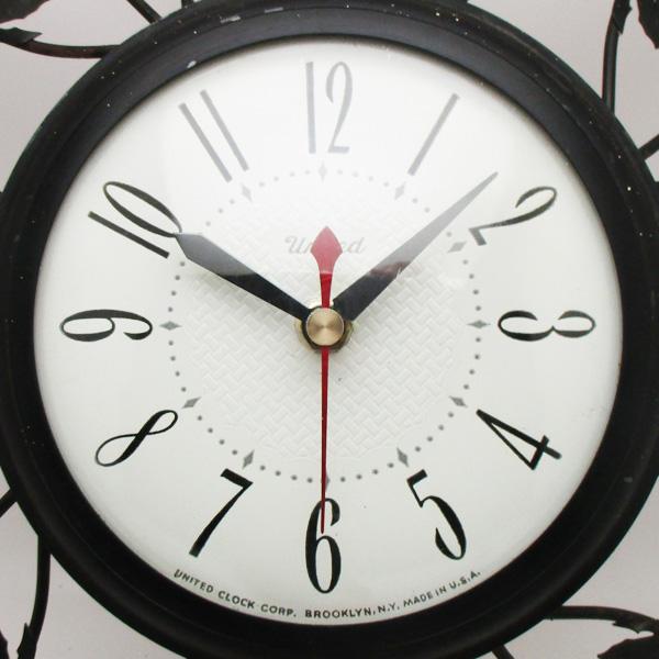送料無料 アンティークウォールクロック UNITED/ヴィンテージ壁掛け時計アメリカ製usa製ミッドセンチュリー北欧昭和レトロモダン50s60s70s_画像3