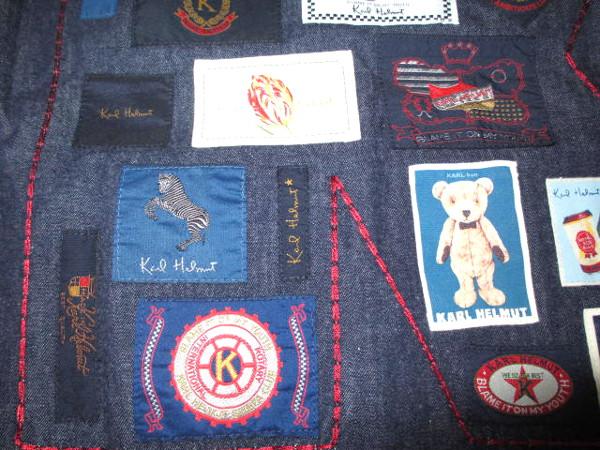 カールヘルム 豪華ラベルコレクションジャケット風デニムシャツ インディゴ紺 Mサイズ 新品_画像8