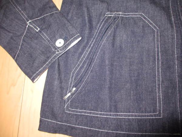 カールヘルム 豪華ラベルコレクションジャケット風デニムシャツ インディゴ紺 Mサイズ 新品_画像5