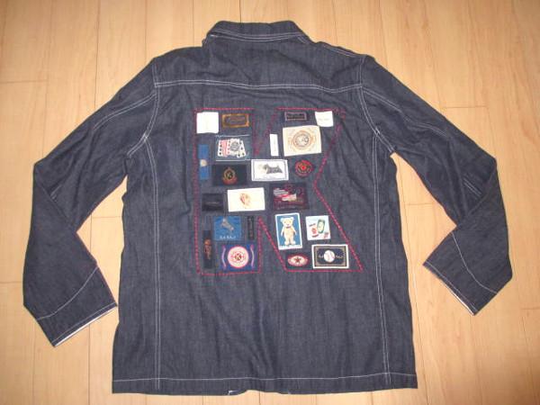 カールヘルム 豪華ラベルコレクションジャケット風デニムシャツ インディゴ紺 Mサイズ 新品_画像2