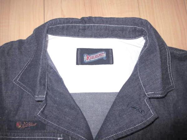 カールヘルム 豪華ラベルコレクションジャケット風デニムシャツ インディゴ紺 Mサイズ 新品_画像10