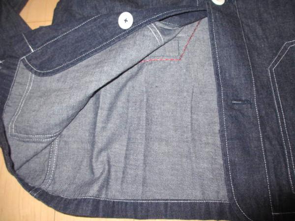 カールヘルム 豪華ラベルコレクションジャケット風デニムシャツ インディゴ紺 Mサイズ 新品_画像6