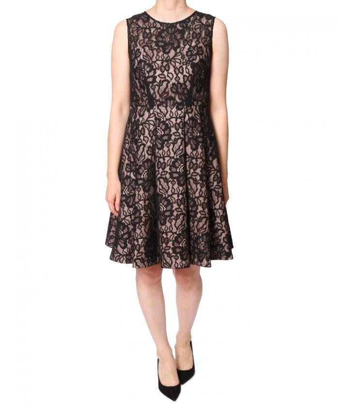 グレースコンチネンタル コードレースフレアワンピース ドレス オケージョン 黒 日本製 結婚式 38サイズ 新品 定価48600円 送料無料