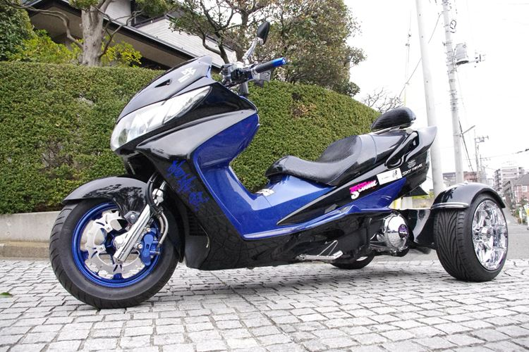 usual license   can ride! complete made in Japan trike!250cc