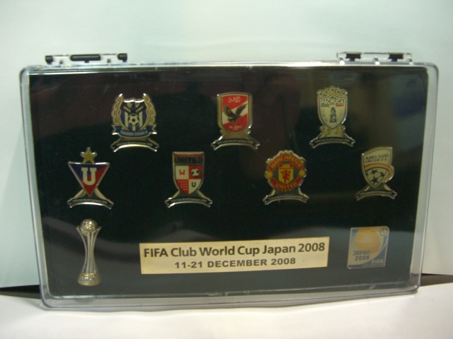 ★FIFA クラブワールドカップ 2008 JAPAN★ピンバッジ セット★ガンバ大阪 マンチェスター・ユナイテッド等★