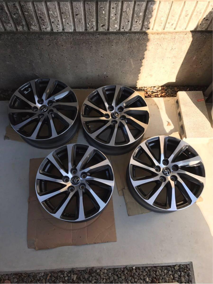 美品 トヨタ 新型 30系 ヴェルファイア 純正ホイール 17インチ アルファード等 4本セット