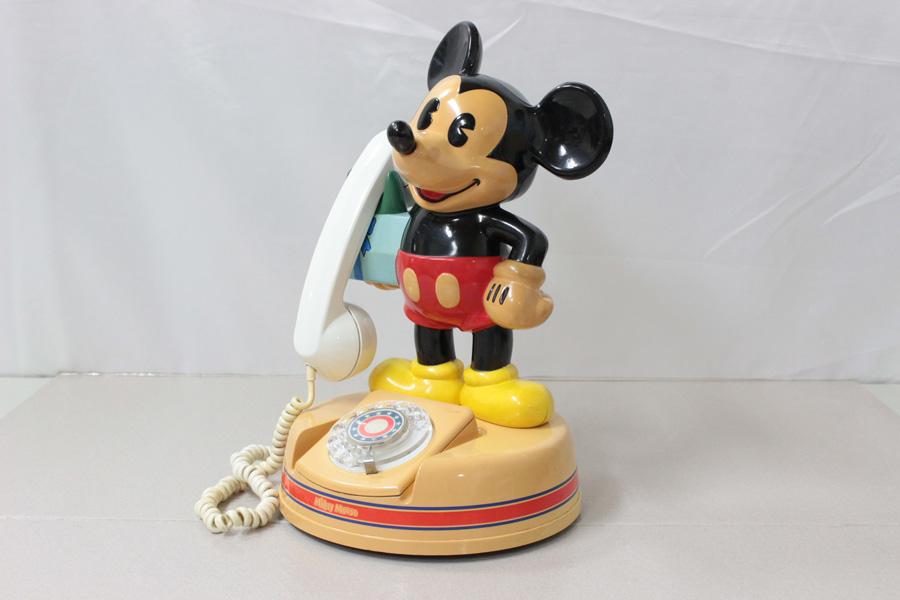 ミッキーマウス電話機 DK-641 神田通信 ♪通話確認済み♪ 昭和レトロ