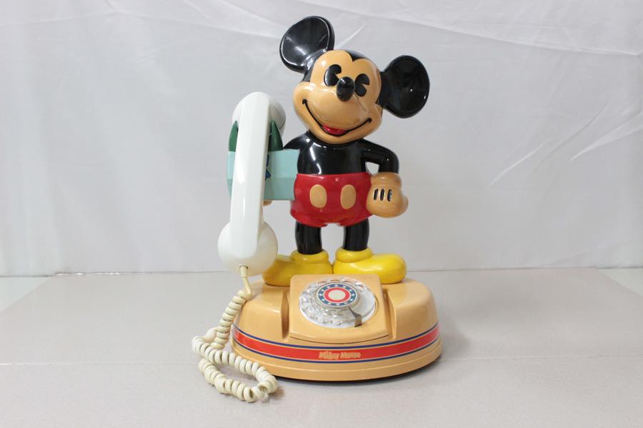 ミッキーマウス電話機 DK-641 神田通信 ♪通話確認済み♪ 昭和レトロ_画像2