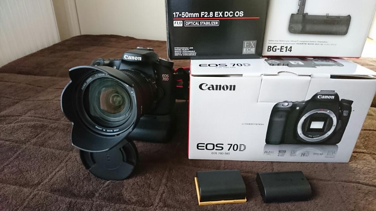 Canon EOS 70D バッテリーグリップBG-E14 シグマ17-55f2.8 セットで!