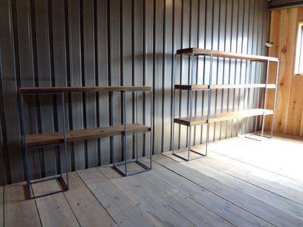 アイアンキューブフレーム 3段2個+2段2個set 本棚 飾り棚 壁面収納 みせる収納 ディスプレイ キャビネット カフェ風 インダストリアル_画像2