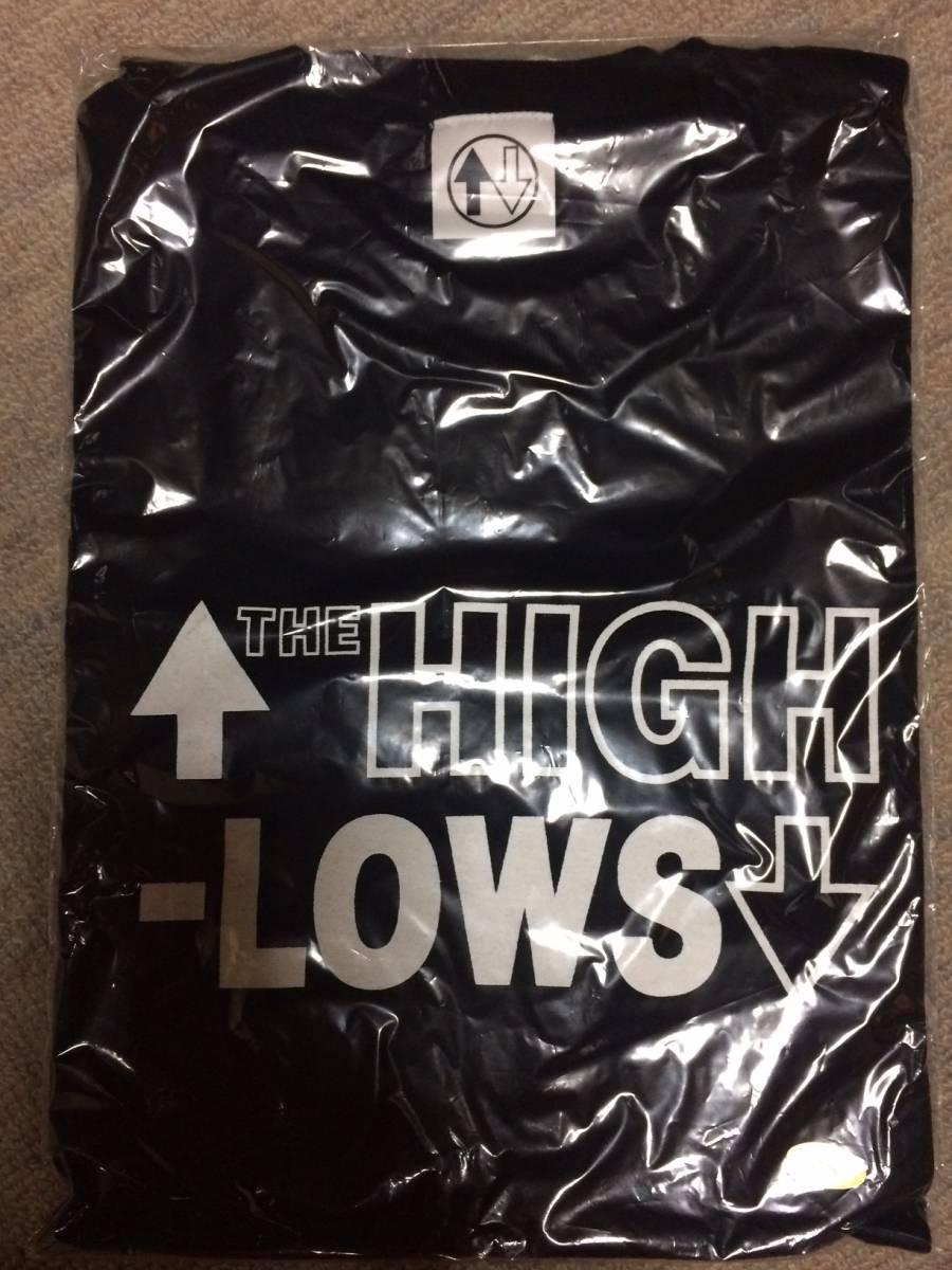 ☆↑THE HIGH-LOWS↓ 黒無地新品未使用Tシャツ Sサイズ☆ ザ・クロマニヨンズ THE BLUE HEARTS ライブグッズの画像