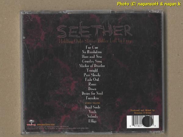 ★即決★ SEETHER (シーザー) / Holding Onto Strings Better Left to Fray - 南アフリカ共和国で結成されたバンド、2011年発表アルバム_画像2