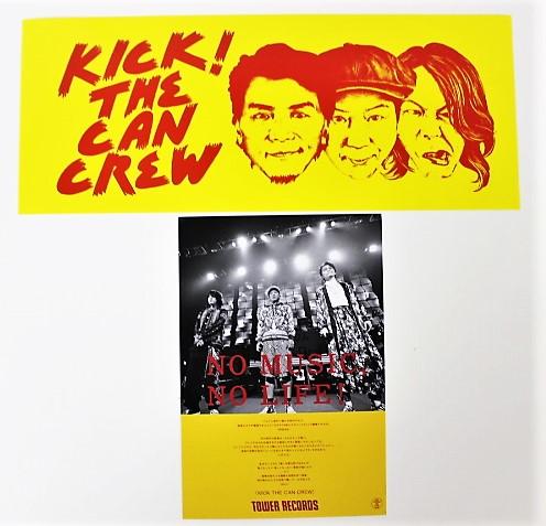 KICK THE CAN CREW KICK! タワーレコード特典 オリジナル BIGステッカー + ポストカード 送料無料 タワレコ シール キックザカンクルー