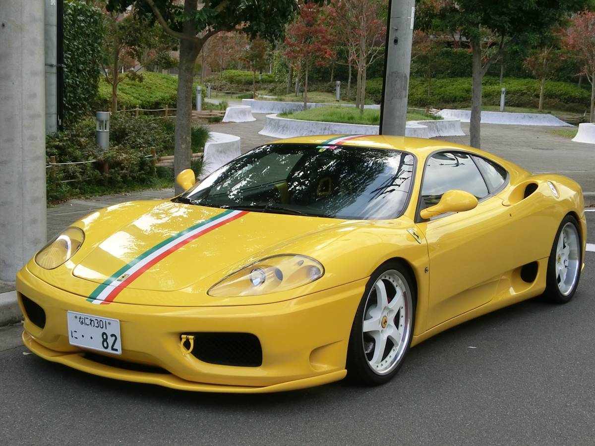 H15年最終モデルの極上フェラーリ360モデナ6速F-1マチック・フルエアロ・社外マフラー・