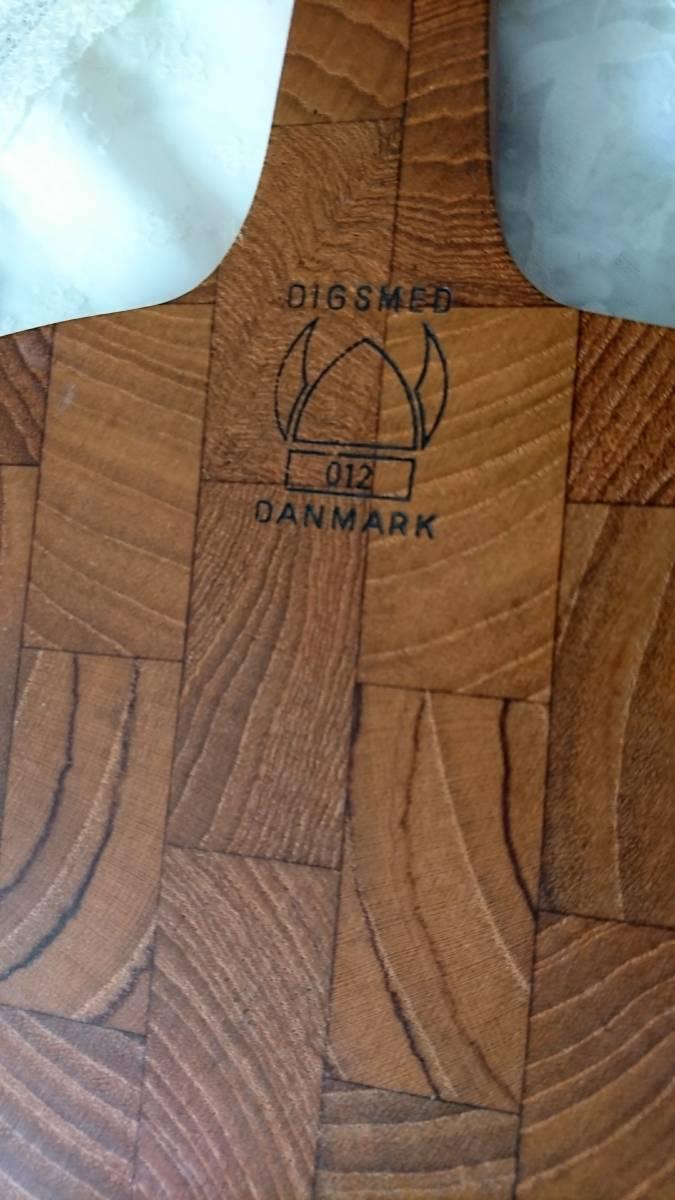 北欧ヴィンテージDIGSMEDチークカッティングボードまな板/デンマーク製/パン果物チーズティーポット敷き鍋敷き等としても♪_画像3