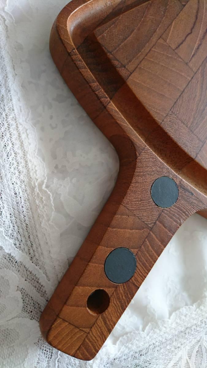 北欧ヴィンテージDIGSMEDチークカッティングボードまな板/デンマーク製/パン果物チーズティーポット敷き鍋敷き等としても♪_画像4