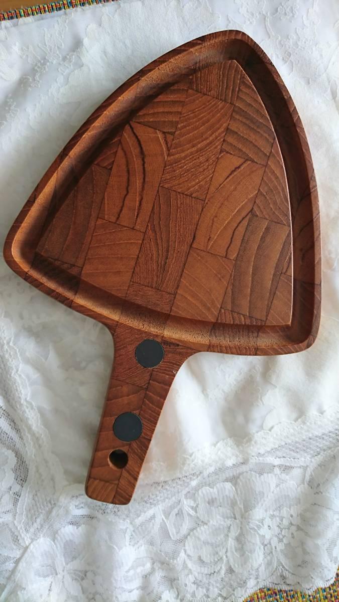 北欧ヴィンテージDIGSMEDチークカッティングボードまな板/デンマーク製/パン果物チーズティーポット敷き鍋敷き等としても♪_画像5
