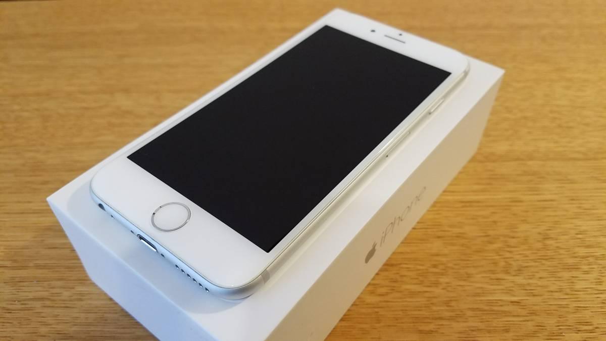 送料無料!! ジャンク 美品 softbank iphone6 A1586 シルバー 中古 ネットワーク利用制限○