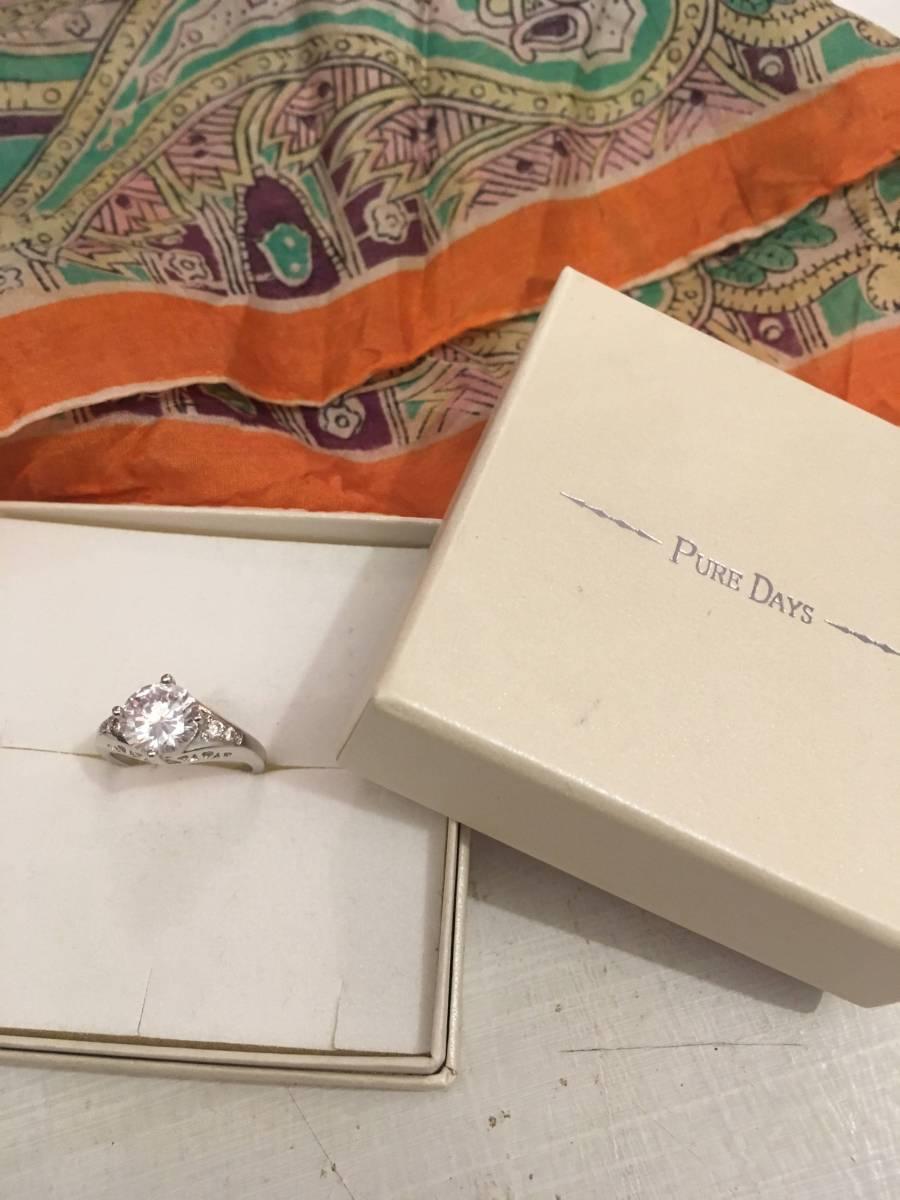 *昔、祖母が海外のアンティークショップ購入のフェイダナウェイがしていそうな指輪 サイズ8号100円でどうぞ!