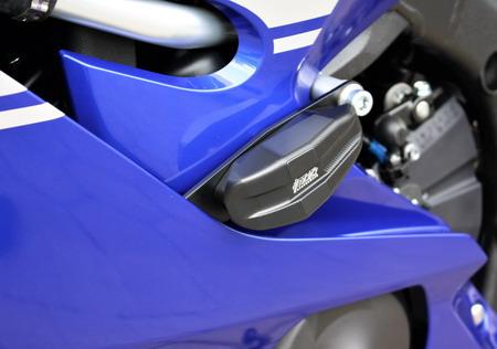 Yamaha YZF-R6 ( ヤマハ YZF R6 RJ27 ) 2017y'以降用 フレームスライダー プレートタイプ GSG Mototechnik ドイツ製 ボルトON取り付け(Y56)