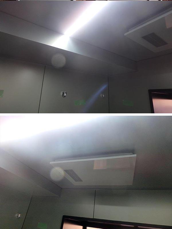J2-01 展示品 小傷あり Panasonic 1822 ユニットバス LED照明 泡風呂 水栓 シャワー 排水トラップ付き 換気暖房ダミー無し_画像9