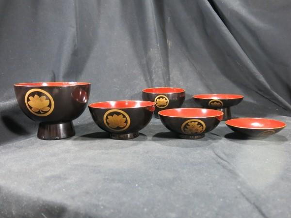 四つ椀 杯セット 江戸時代 漆器_画像1