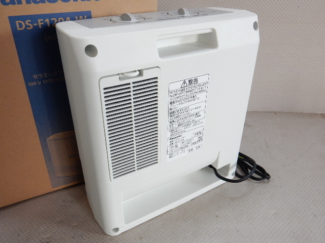 8706¥1~★Panasonic/パナソニック 電気ファンヒーター 暖房器具 2015年製 DS-F1204 動作品_画像4