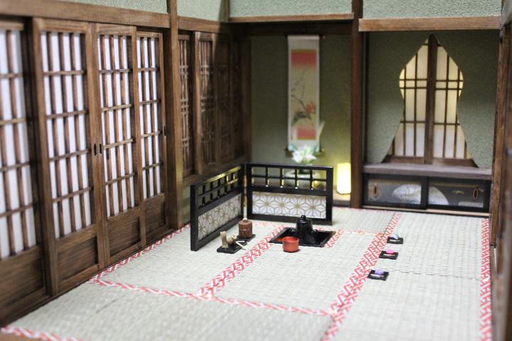 ★懐かしの和室と茶室六畳1/12のドールハウス★_画像4
