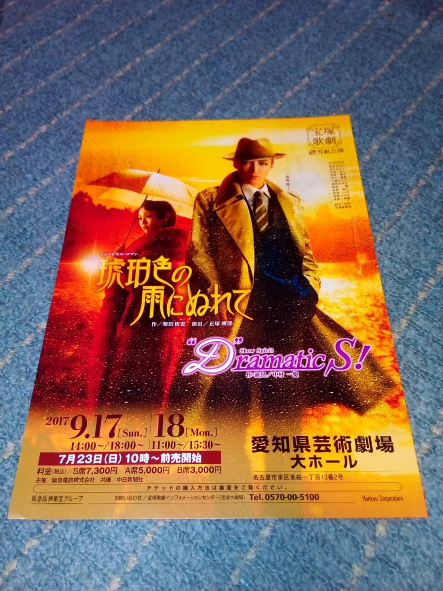 【宝塚歌劇】雪組公演チラシ 琥珀色の雨にぬれて Dramatic S! 愛知県芸術劇場