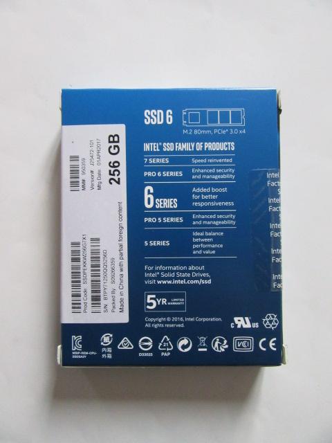 新品★Intel★PCIe 600pシリーズ M.2 SSD★SSDPEKKW256G7X1、256GB