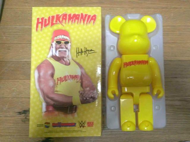 ベアブリック BE@RBRICK 400% ハルクホーガン 美品 MEDICOMTOY メディコムトイ HULK WWE TNA_画像1