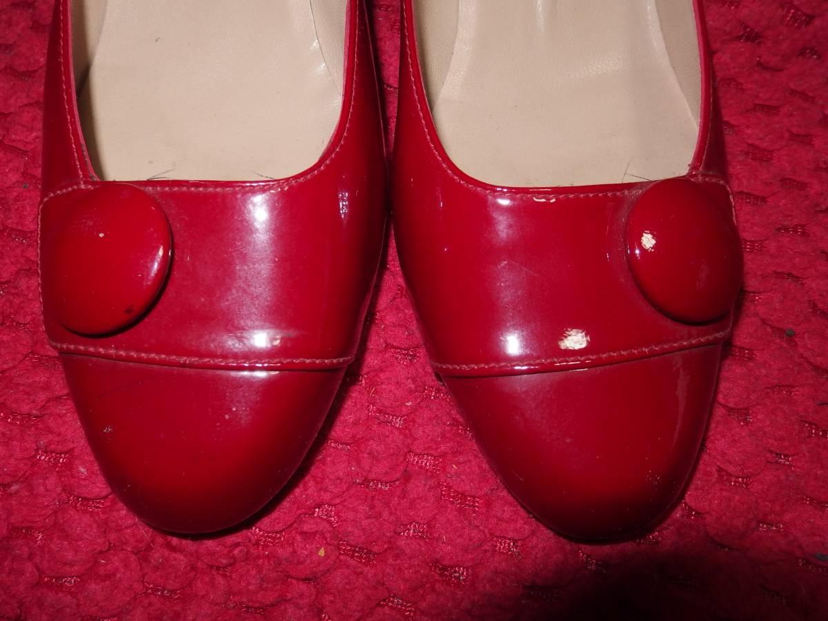 ジョニJONIスペイン製の婦人用・レディースシューズ・パンプス/エナメル製?/23.5cmくらい/同サイズの靴を多数出品中/熊本県から定形外発送_画像3